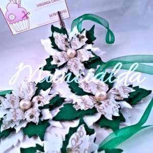"""alt=""""decorazione-handmade-feltro-albero-natale-poinsettia-stella-di-natale"""""""