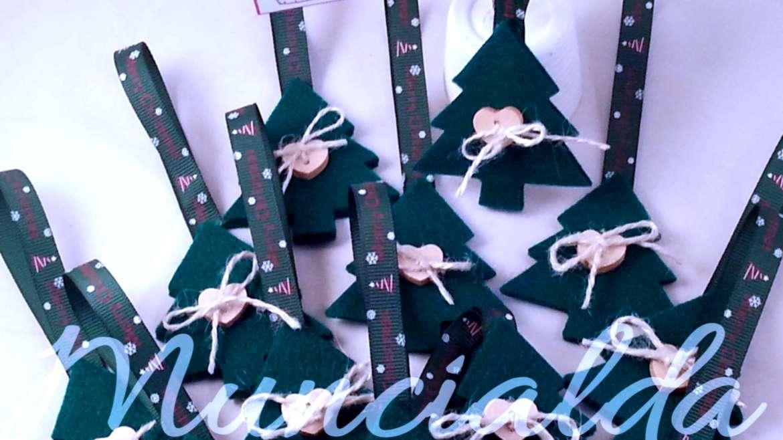 """alt=""""decorazione-casa-feltro-albero-di-natale-handmade"""""""