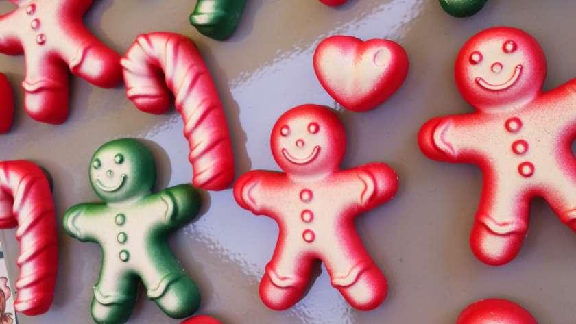 Calamite gingerbread e candycane in gesso ceramico ♥