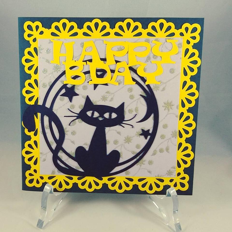 Buon compleanno: biglietto di auguri con gattino