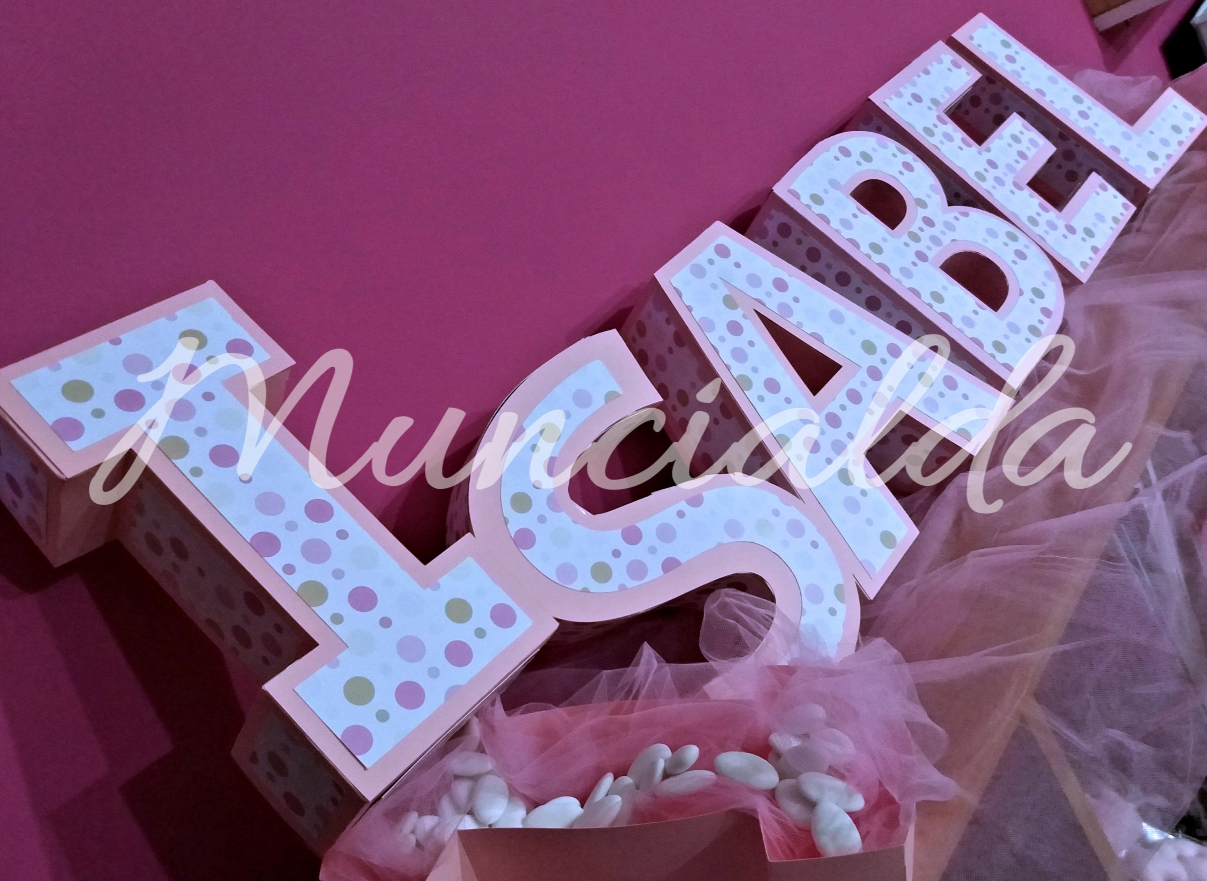 Scatole porta confetti: lettere 3D