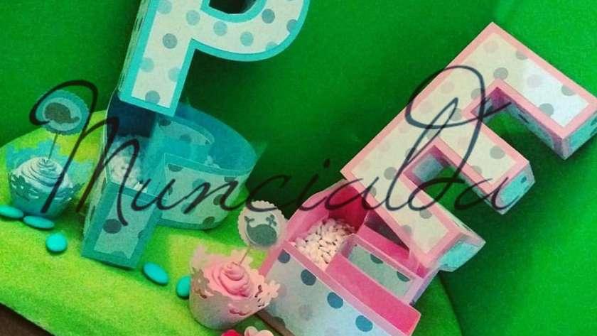 Lettere 3d porta confetti