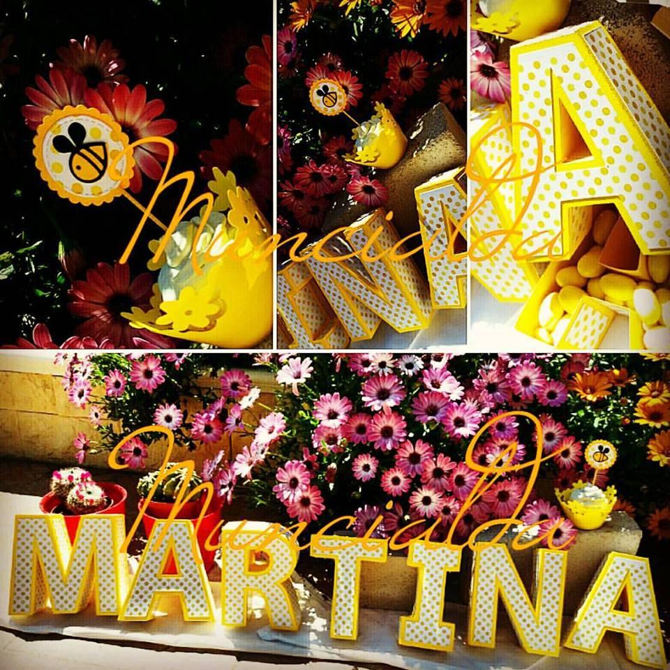 Scatole lettere 3d: MARTINA
