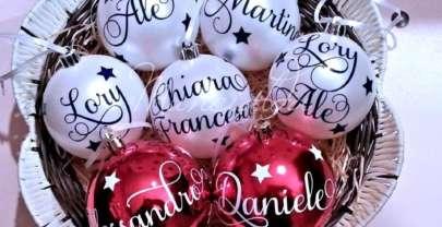 Palline di Natale personalizzate: un albero handmade