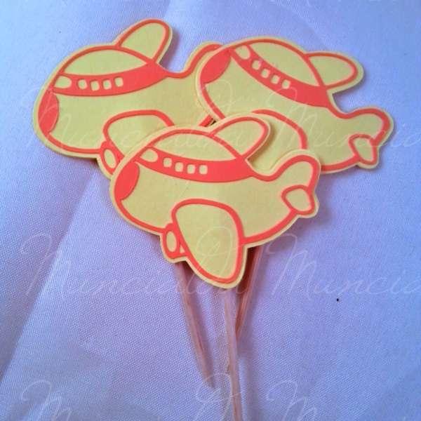 cupcake topper aeroplano