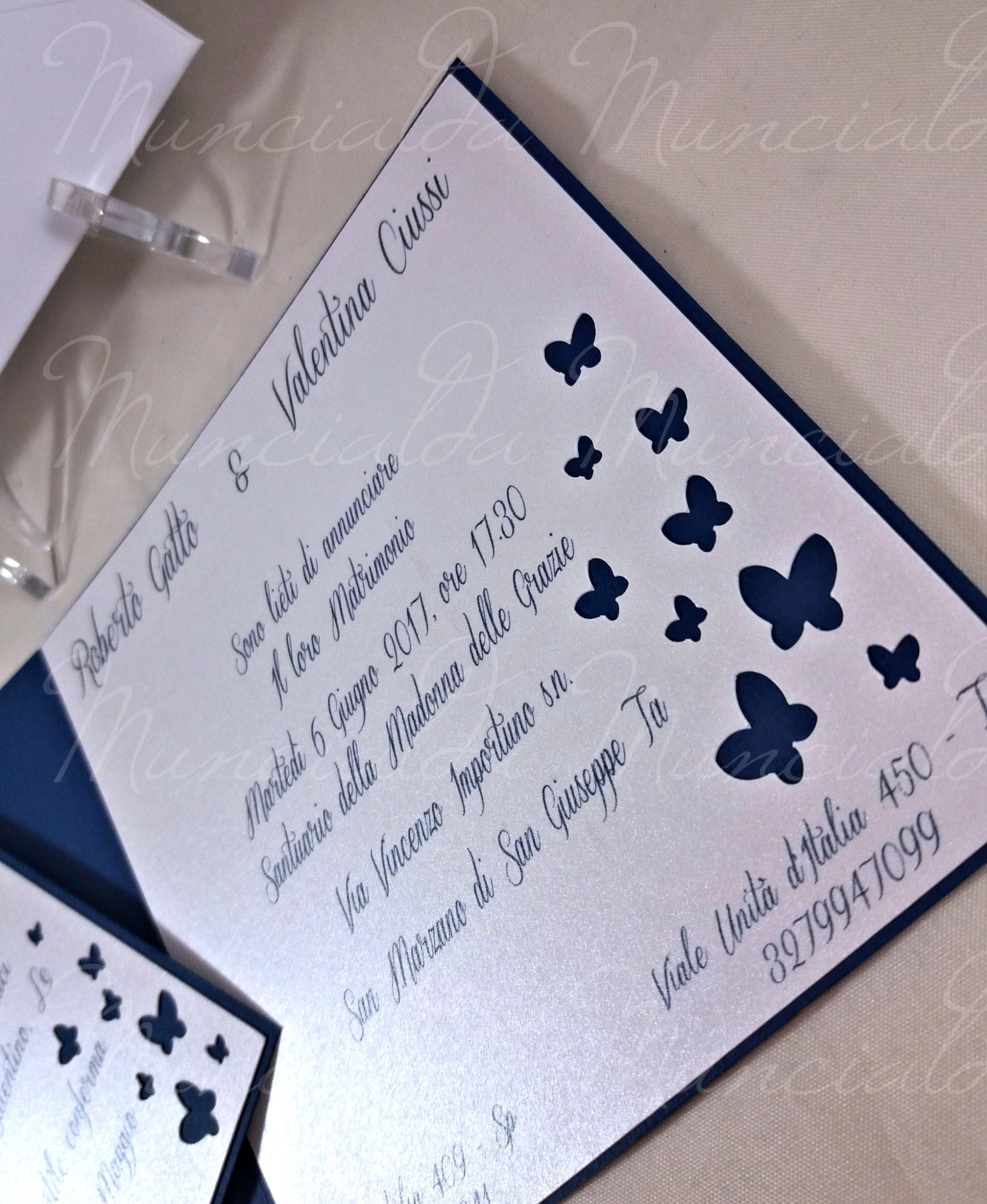 Partecipazioni Matrimonio Farfalle.Partecipazioni Farfalle Inviti Per Una Comunione In Bianco