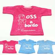 mini t-shirt a bordo